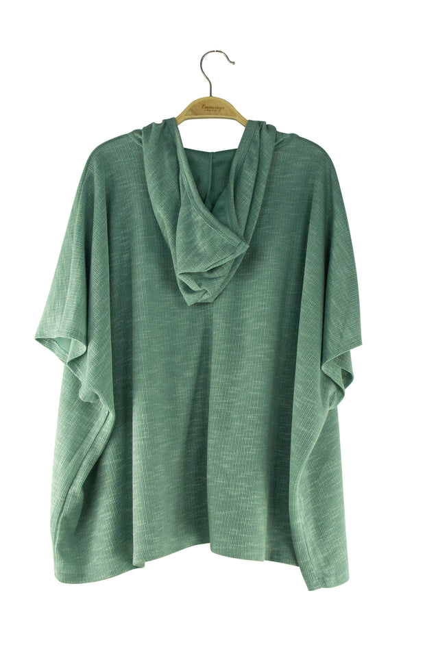 Robin Hooded Top in Green