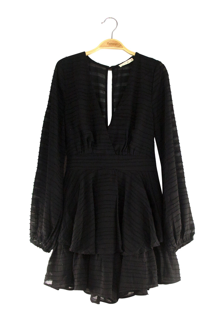 Rustic Romper in Black