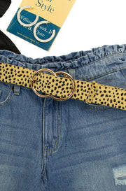 Buckle Up Belt in Dalmatian Print