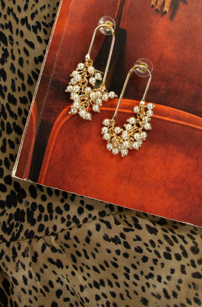 Pearls of Wisdom Earrings in Gold