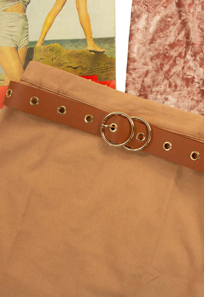 Never Too Shy Belt in Brown
