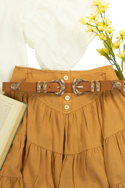 Double Trouble Belt in Brown