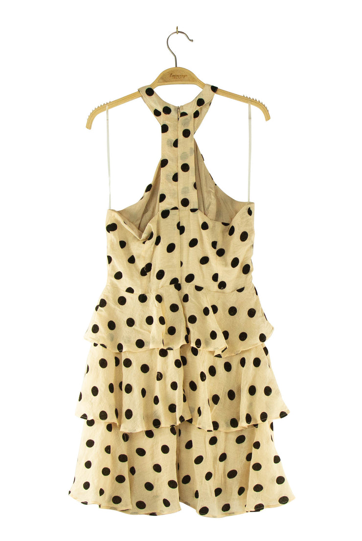 On the Dot Dress in Light Brown