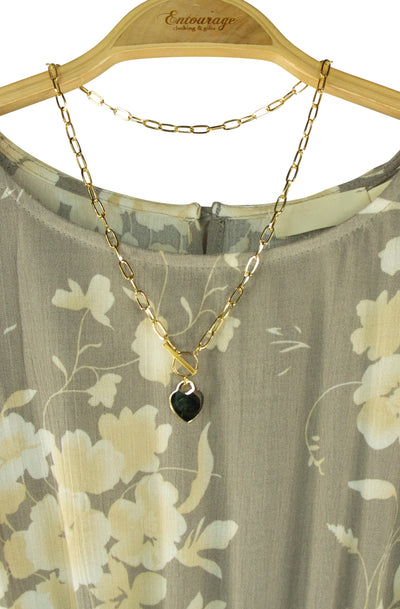 Locket Necklace in Gold