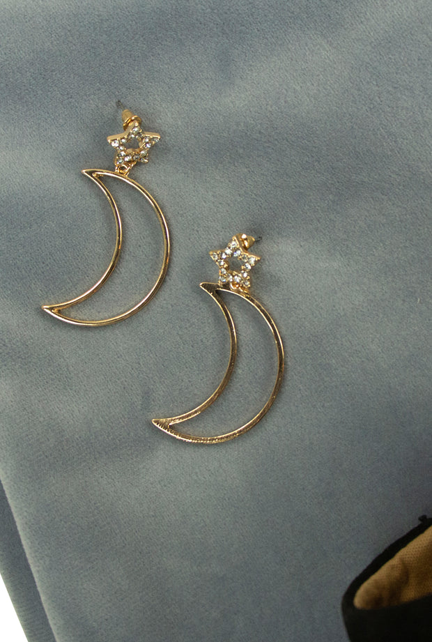 Moonshine Earrings in Gold
