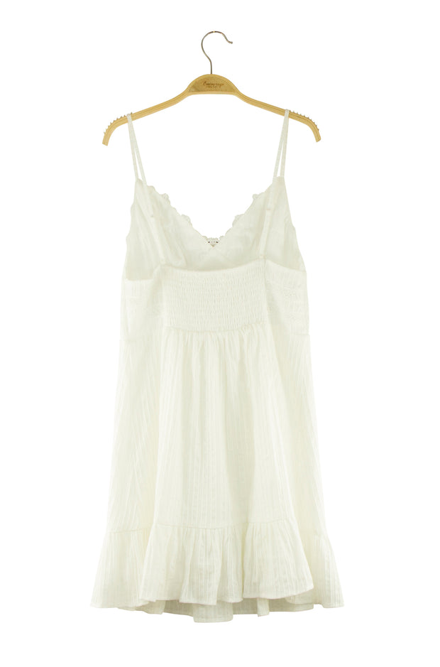Peace of Mind Dress in White