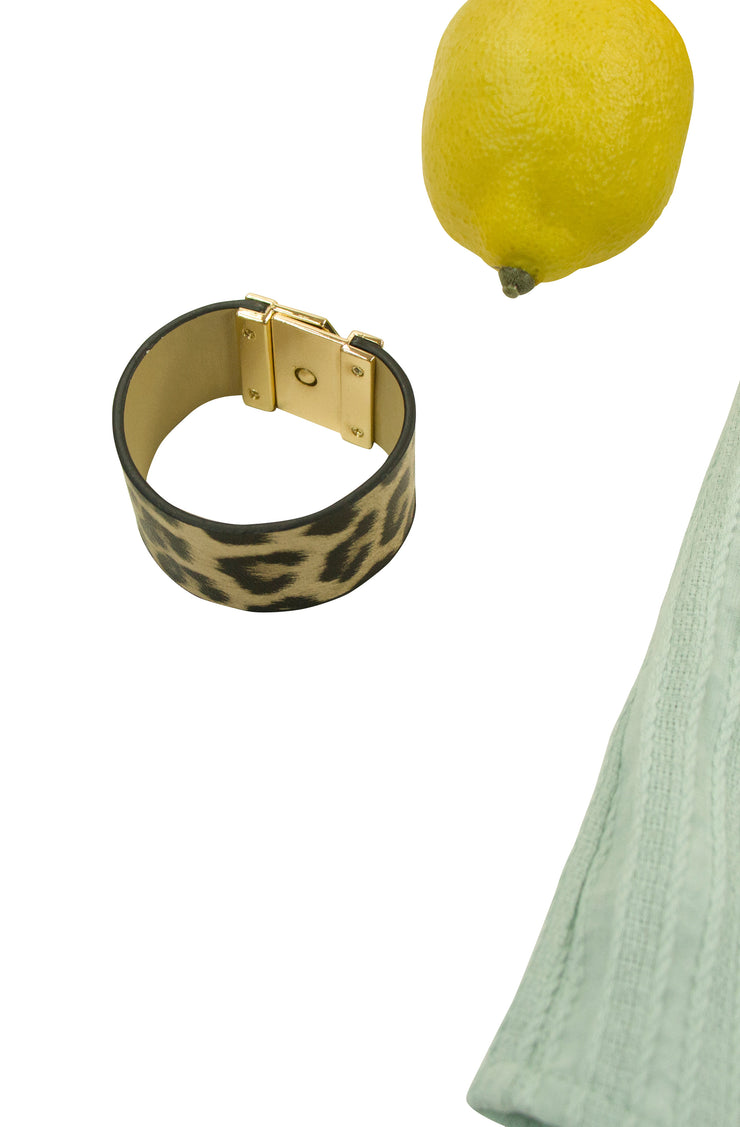 Live and Let Live Bracelet in Leopard Print
