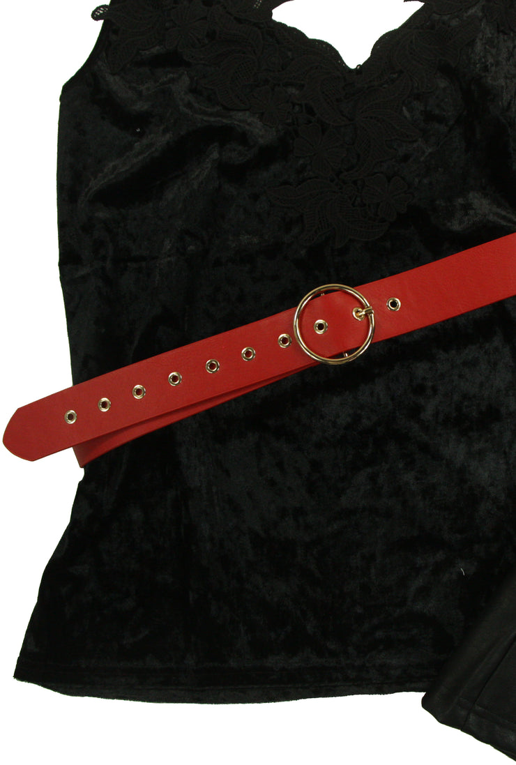 Below the Belt Belt in Red