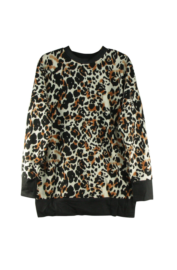 Paw Prints Top in Black