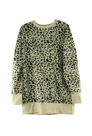 Paw Prints Top in Light Brown