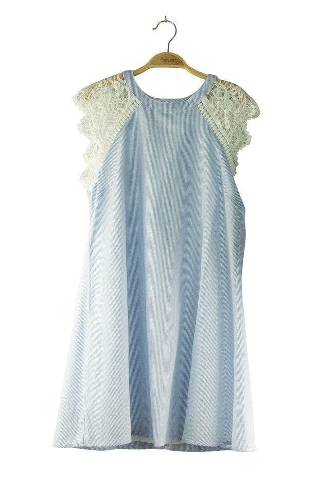 Winged Dress in Light Blue