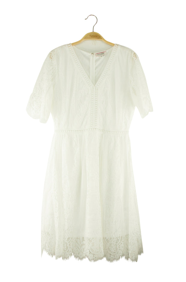 Blissfully Dress in Off White