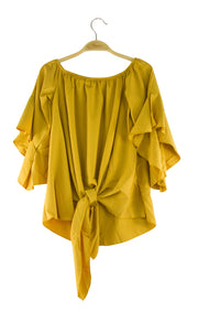 Worldly Top in Dark Yellow