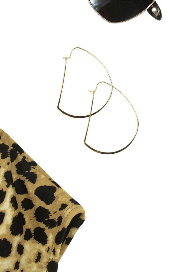 Archery Earrings in Gold
