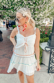 Summer Time Fun Dress in White