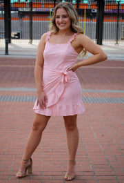 Pomp Dress in Pink