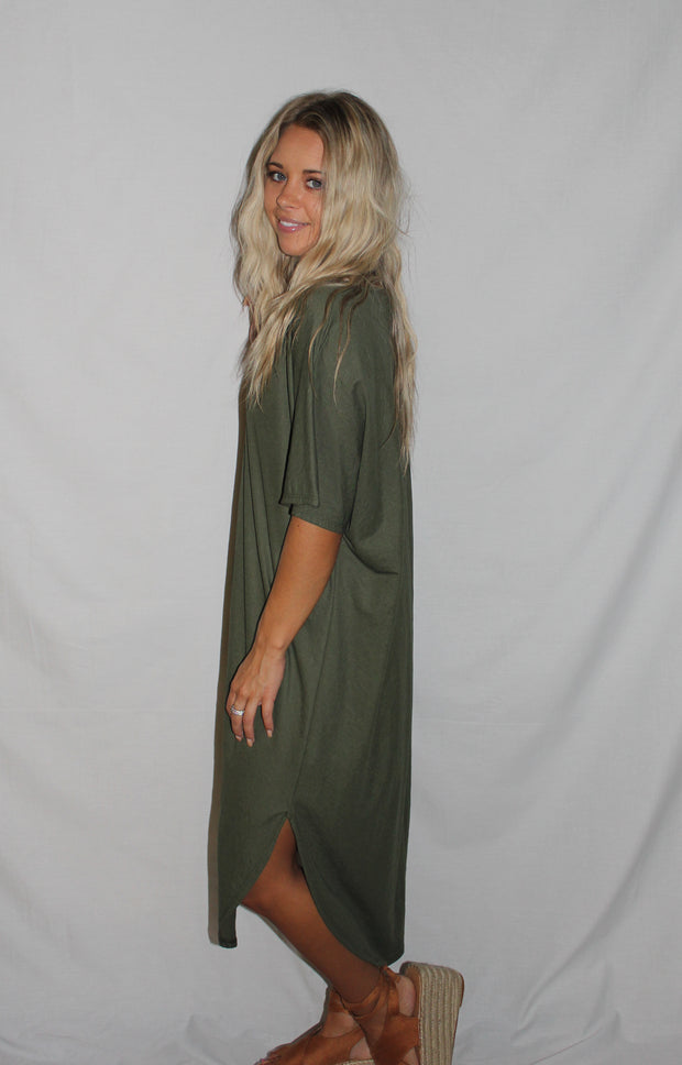 Kendall Dress in Dark Green