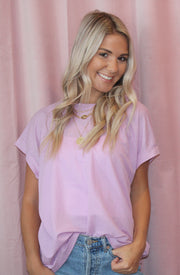 Cross your Ts Tee Shirt in Light Purple