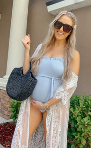 Baby Doll Bathing Suit in Light Blue