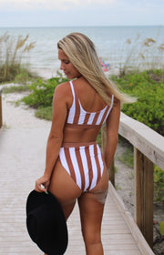 Seashore Dreams Suit Bottom in Brown