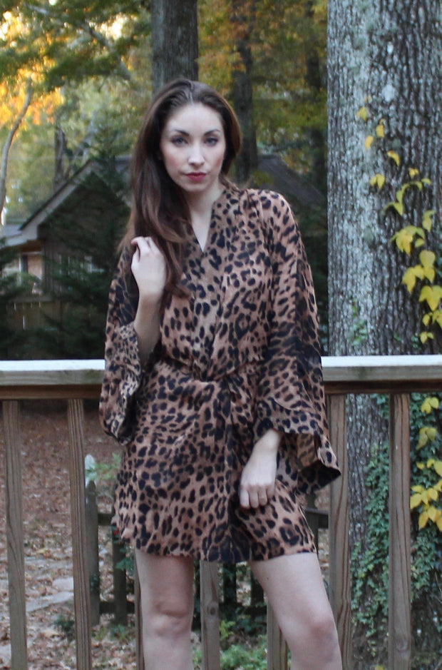 Sphinx Dress in Leopard Print