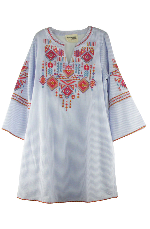 Aztec Dress in Light Blue