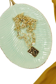 Don‰۪t Be a Square Necklace in Gold