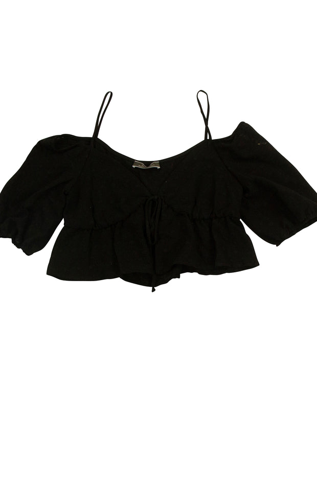 Girls Just Wanna Have Fun Top in Black