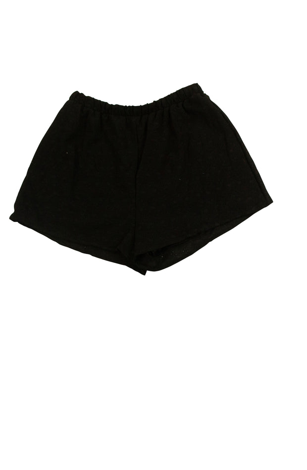 Girls Just Wanna Have Fun Shorts in Black