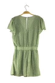 Snow in April Romper in Green