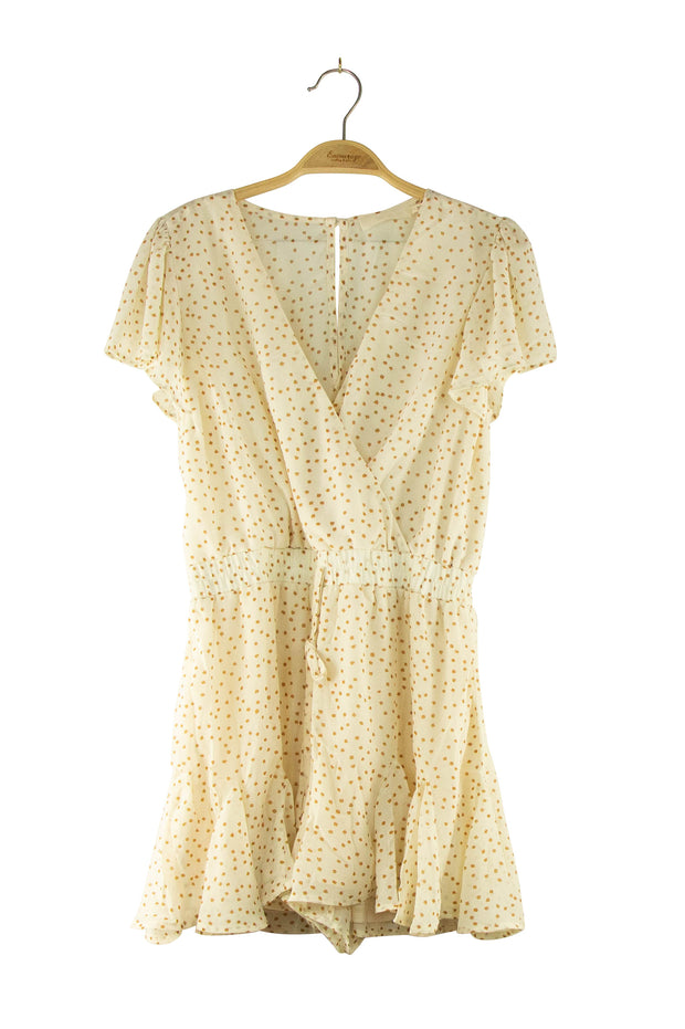 Snow in April Romper in Off White