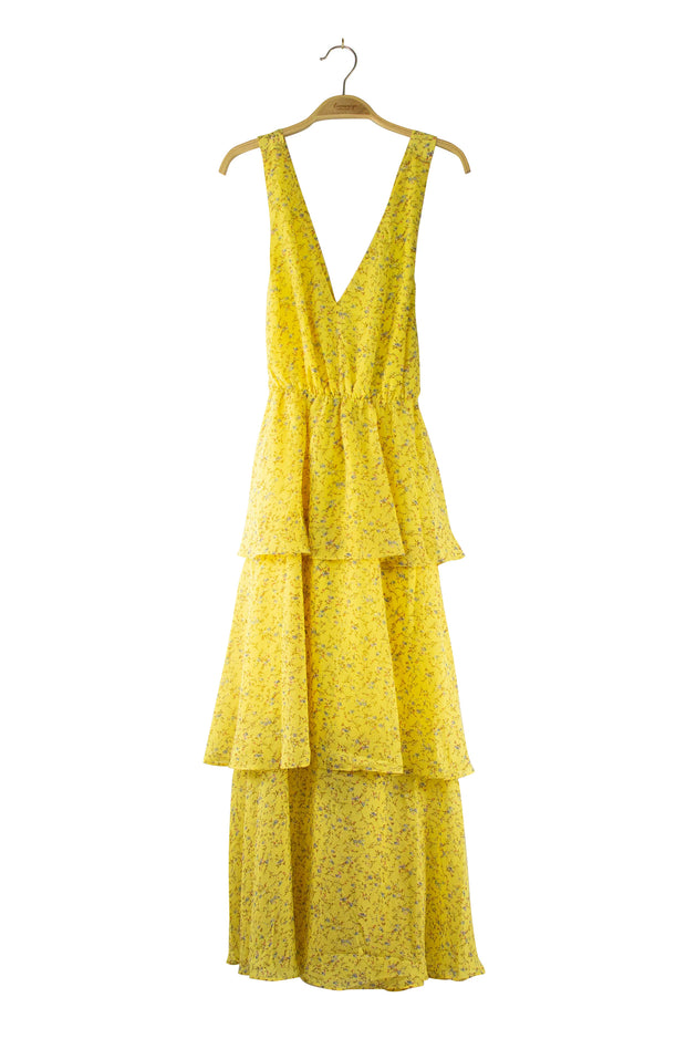 Tiery Dress in Yellow