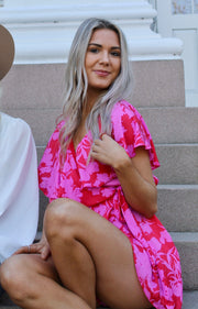 Candy Oasis Romper in Pink