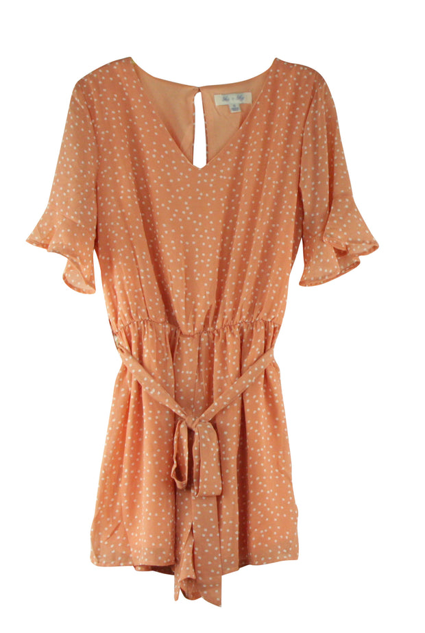 Bella Romper in Light Orange