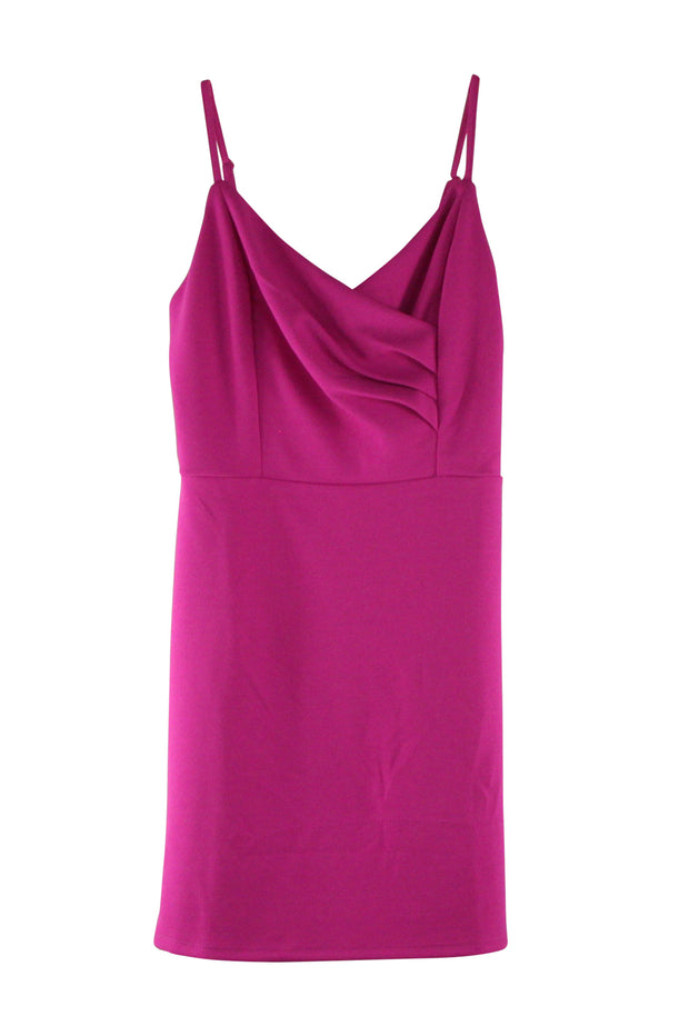 Attentive Dress in Dark Pink
