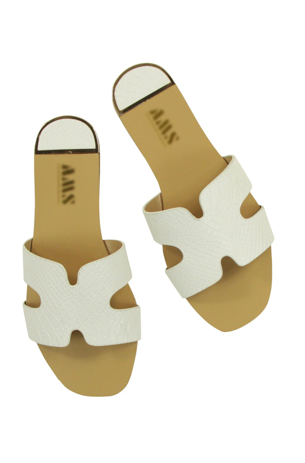 Open for Business Sandals in White
