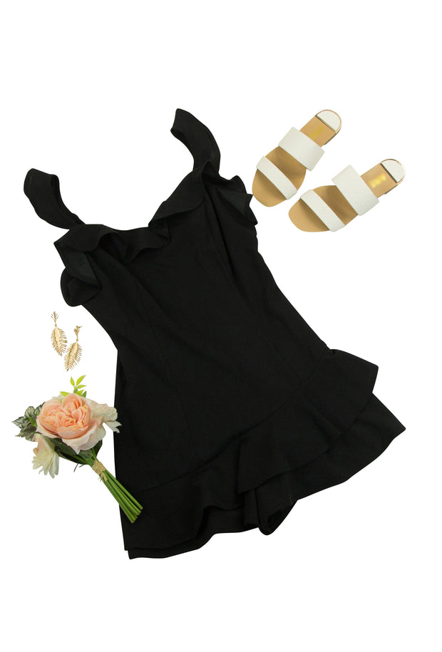 Framed Romper in Black