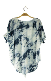Tyed up in Knots Top in Dark Blue