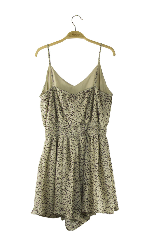 As Good As It Gets Romper in Light Brown
