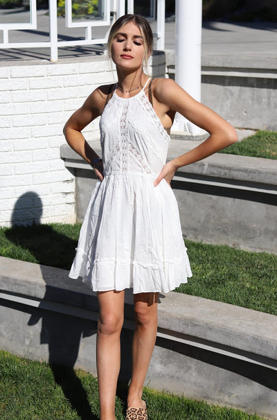 Step Above Dress in White