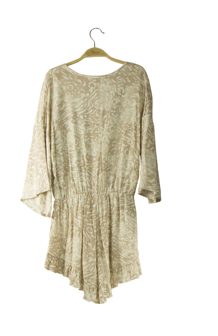 Day or Night Romper in Light Brown