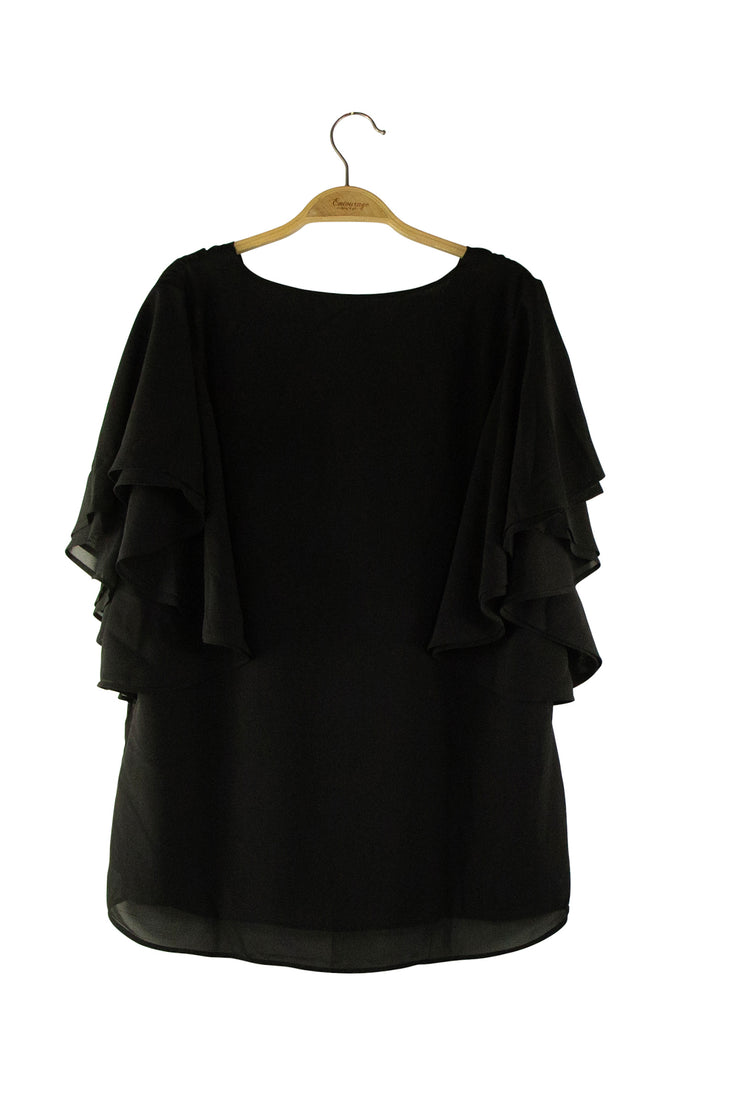 Whispers Top in Black