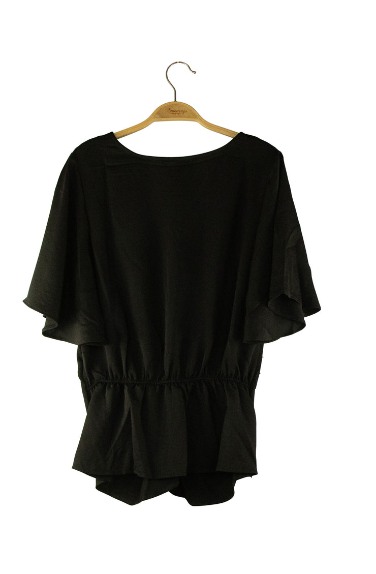 Whimsical Top in Black