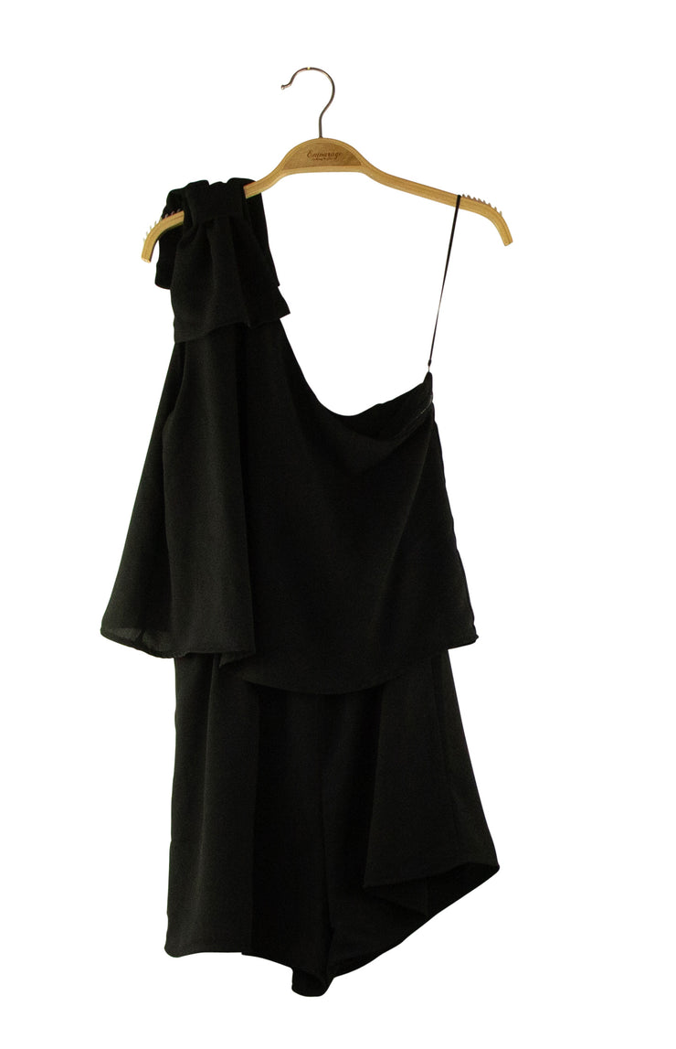 Put a Bow On It Romper in Black