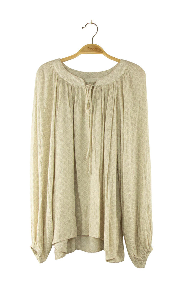 Pleasantries Top in Tan