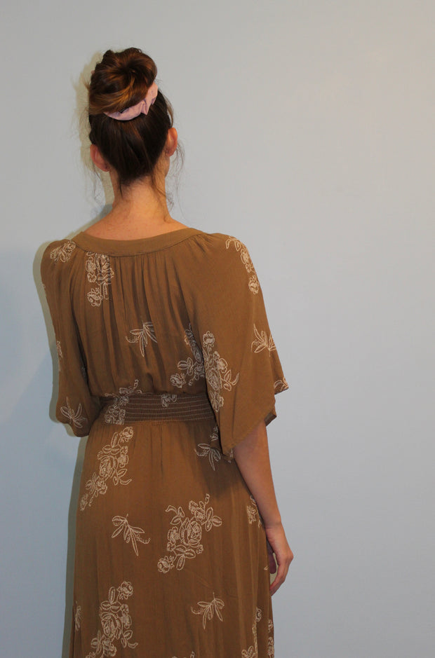 Kimono Dragon Dress in Green
