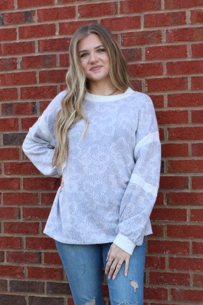 Secret Garden Top in Light Gray