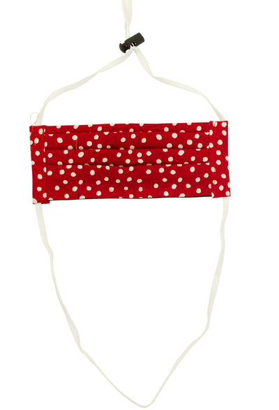 Not Today Corona Mask with Red Polka Dots and White String