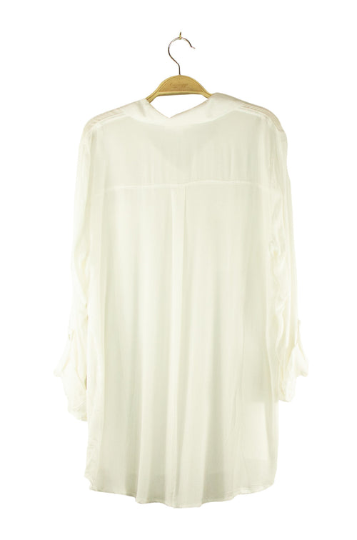Sheer Bliss Mini Dress in Off White