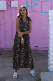Into the Wild Dress in Leopard Print